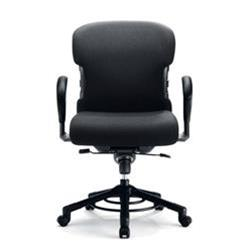 sedia da ufficio girevole per obesi con ruote portata